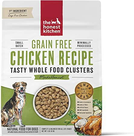 Amazon Com The Honest Kitchen Grain Free Whole Food Clusters Dog Food Cage Free Chicken 1 Lb Pet Supplies