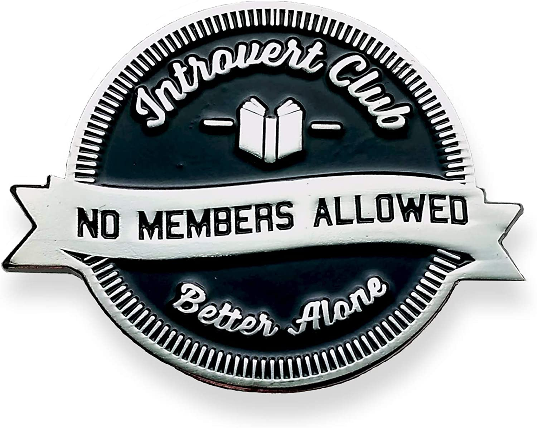 Socially Awkward Lapel Pin Funny Pin Introvert Club Enamel Pin Hat Pin