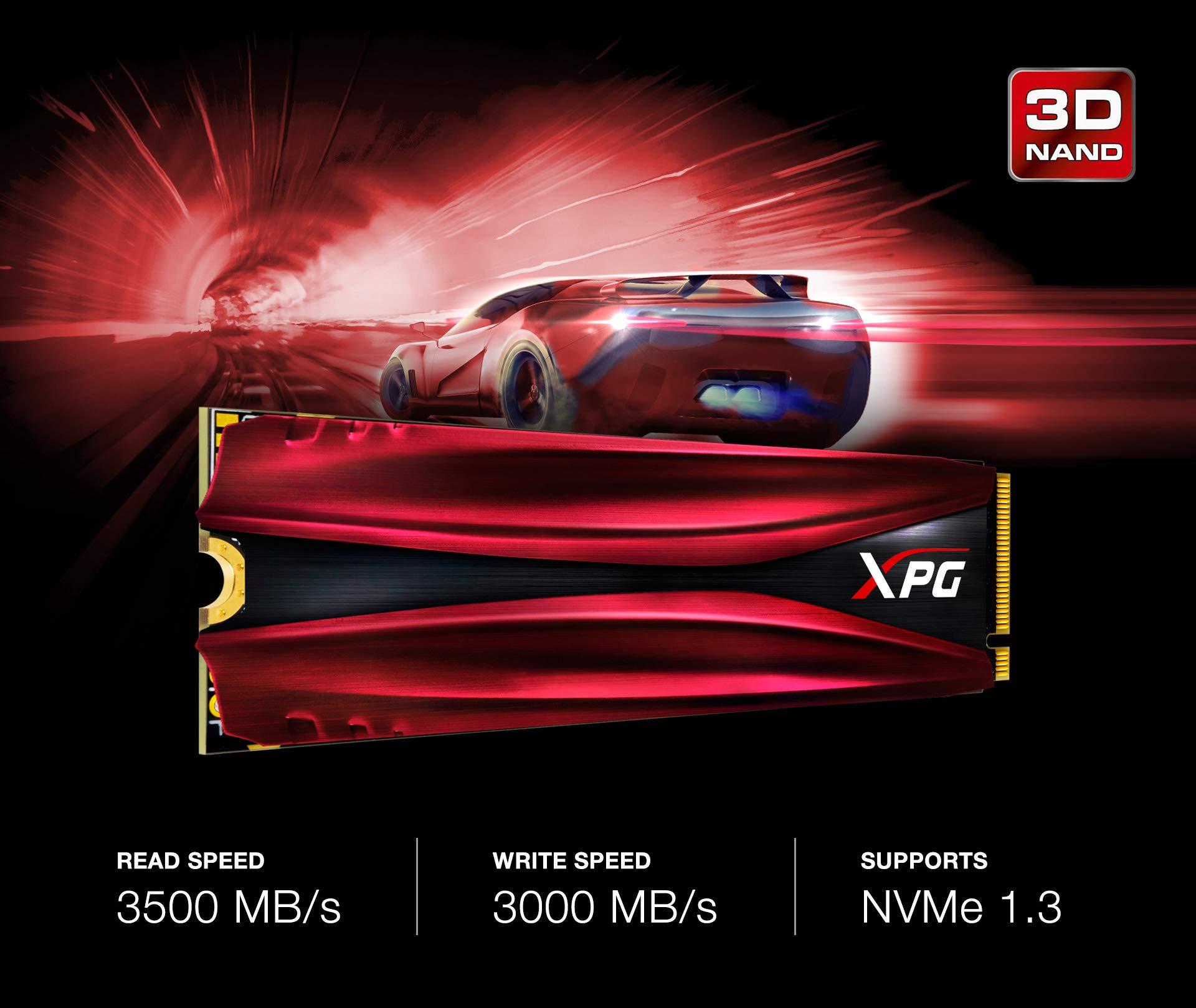 XPG GAMMIX 1TB S11 Pro 3D NAND PCIe NVMe Gen3x4 M.2 2280 SSD (AGAMMIXS11P-1TT-C) by XPG (Image #4)