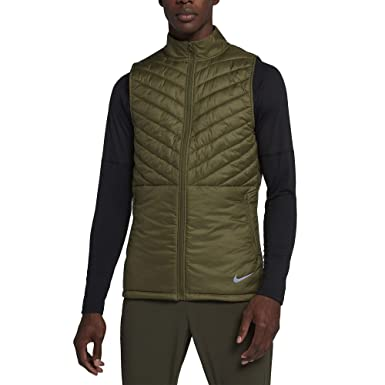 Nike Men's AeroLayer Run Vest Olive CanvasOlive CanvasNeutral Olive S