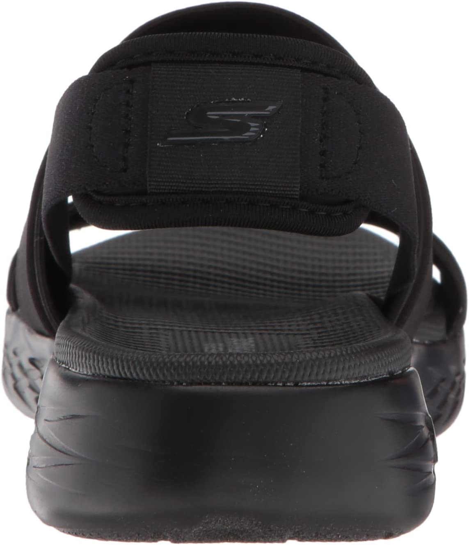 Skechers On-The-go 600-Foxy enkelriempje voor dames Zwart Zwart Bbk