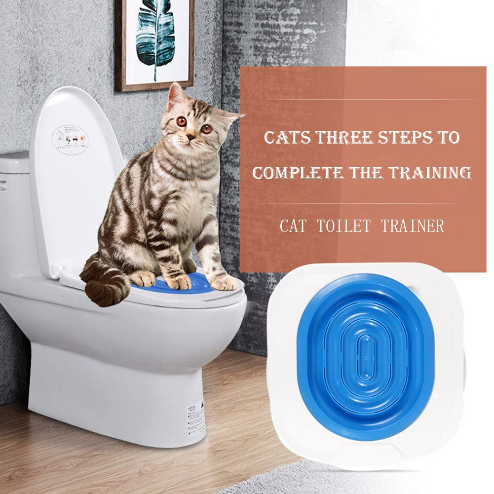 FOFOTOP Cat Toilet Training System Kitten Toilet Trainer Pad Convenient Disappearing Trainer Litter Box Alternative by FOFOTOP