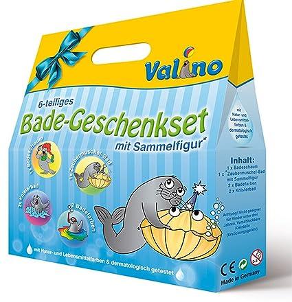 valino Niños de baño Diversión 6 piezas regalo Set baño badefarben arrugado etc.