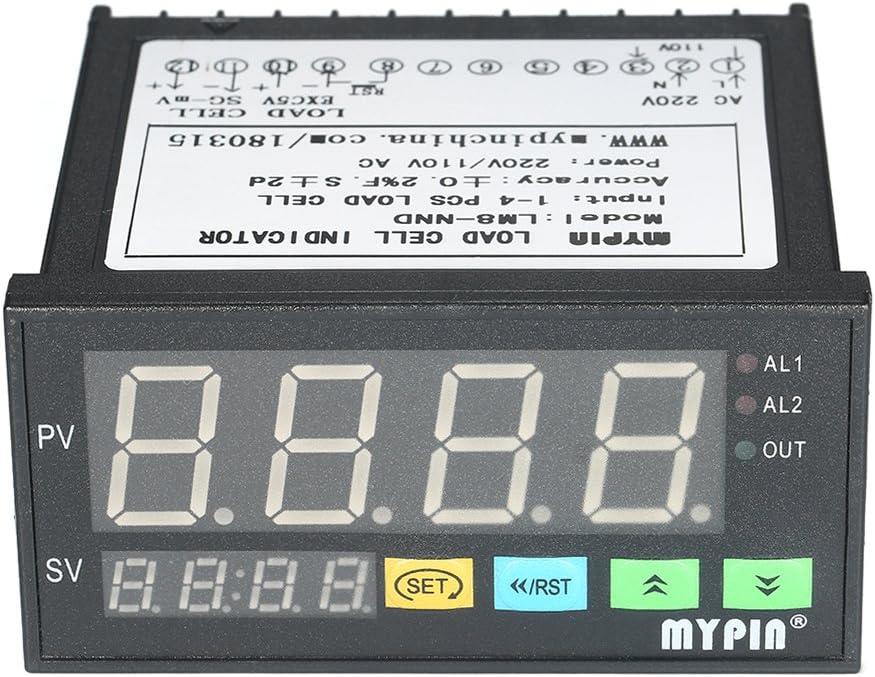 Festnight Indicateur de pesage de lafficheur /à LED num/érique Indicateur de charge des cellules 1~4 Entr/ée des signaux des cellules de chargement