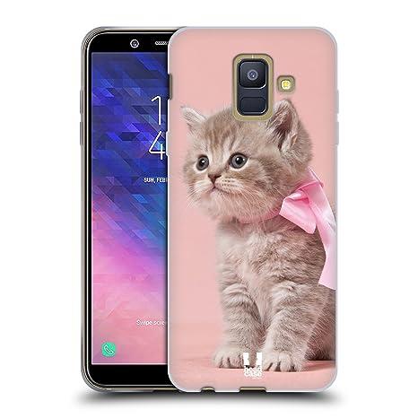 71ea97b20ee8eb Head Case Designs Chaton avec Arc Rose Chats Étui Coque en Gel Molle pour Samsung  Galaxy
