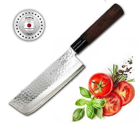 Sekizo Japan Nakiri Messer Hammerschlag Optik Amazon De Kuche