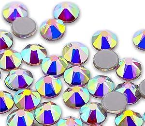1440 Pieces Crystal Flat Back Rhinestone Round Crystal Rhinestones Gems Crystal for Nail Art Bags Furniture Clothes DIY Craft (Crystal AB,4mm)