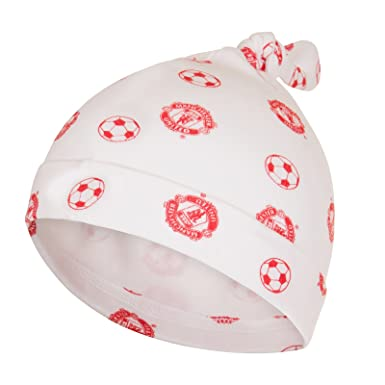 27f7ed17146 Manchester United FC Official Soccer Gift Baby Boys Girls Rope Hat   Amazon.co.uk  Clothing