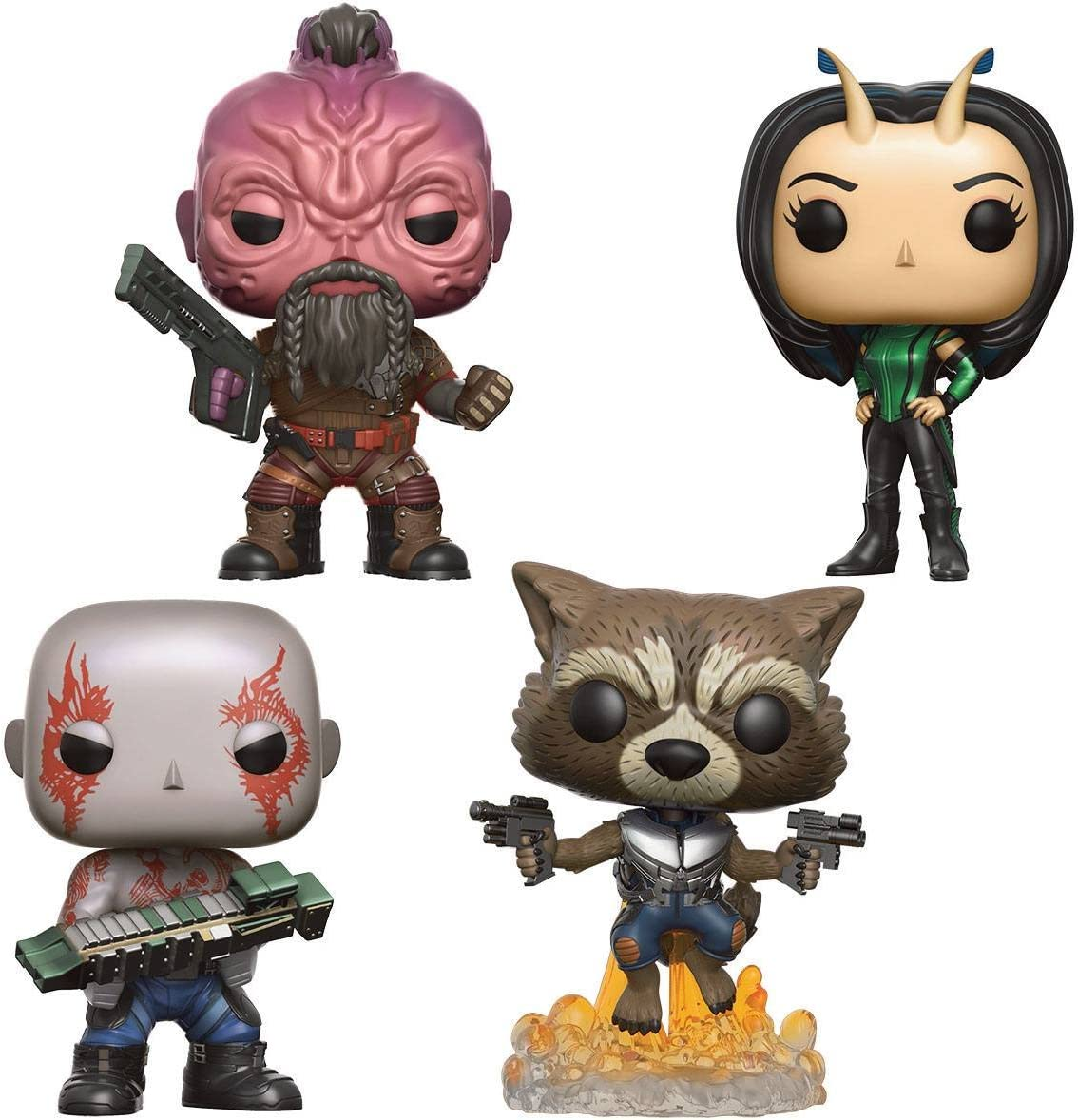 Funko Figurine Marvel - Gardiens De La Galaxie 2 - Pack De 4 Pop Drax/Rocket/Taserface/Mantis [Importación francesa]: Amazon.es: Videojuegos