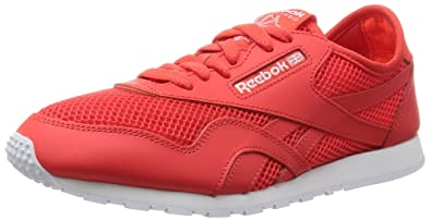 10b27972544 Amazon.com  Reebok Classic Nylon Slim Mesh Sneaker Shoes red White ...