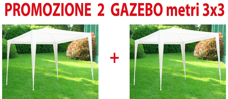 SF SAVINO FILIPPO 2 pz Gazebo Tenda in Metallo Metri 3x3 Impermeabile per Fiera Giardino Campeggio Eventi sagra