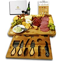 Radiant Royals Unique Housewarming Gifts, Men, Women Birthday, Thanksgiving Gift | Extra Large Cheese Plate Board with…