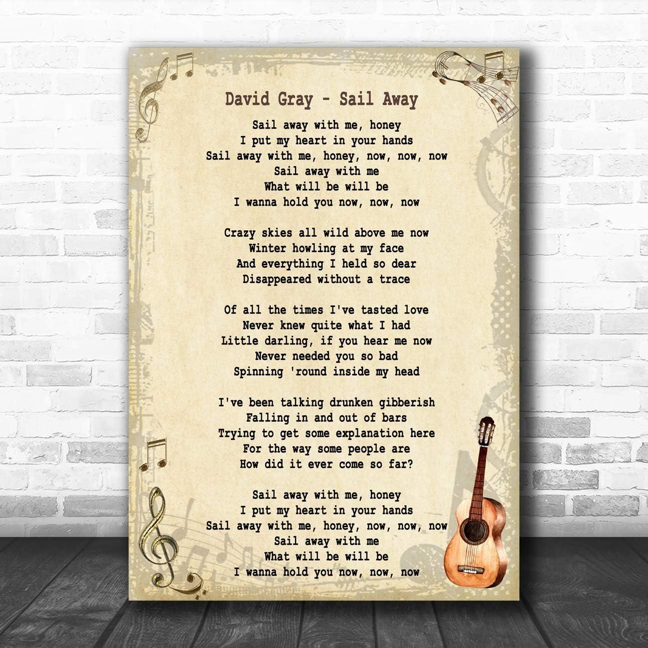 Sail Away Song - Letra de la canción: Amazon.es: Oficina y papelería