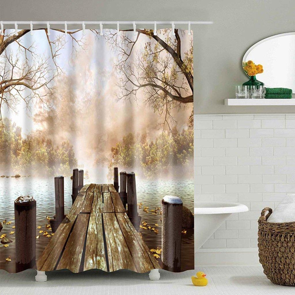 Shower Curtains Wasserdichte Druck Duschvorhang Kreative Badezimmer ...