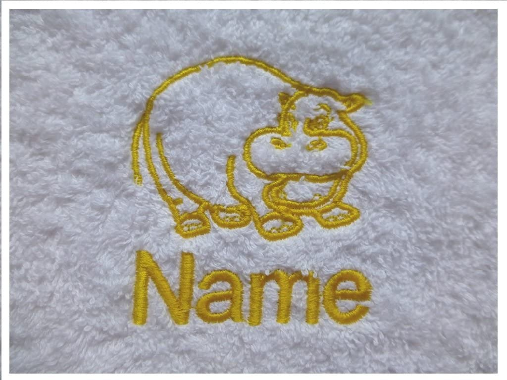 EFY White Baby Hooded Bath Robe or White Hooded Towel with a PRINCESS CROWN Logo and Name of your choice. Hooded Towel 0-5 years