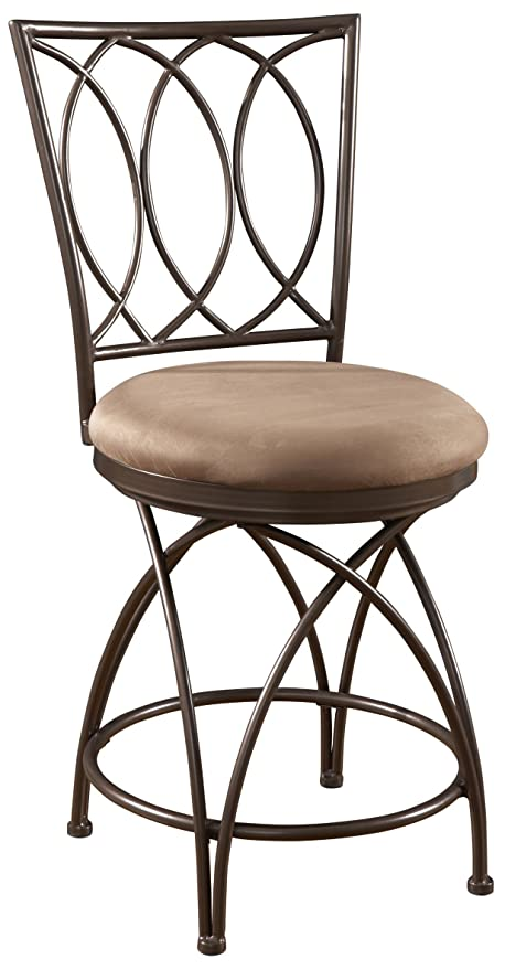 Pleasing Powell Big And Tall Metal Crossed Legs Counter Stool 9 49 X 21 26 X 43 31 Seat Height 24 Bronze Mocha Squirreltailoven Fun Painted Chair Ideas Images Squirreltailovenorg