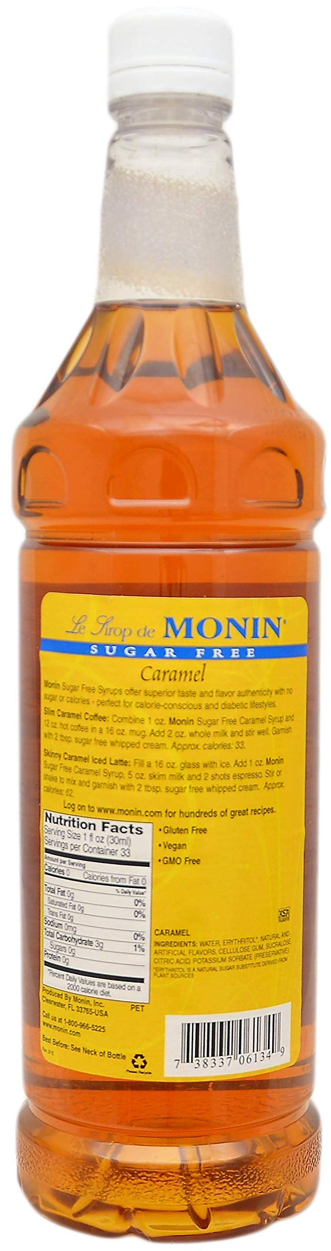 By The Cup Pump and Syrup Combo - Monin Sugar-Free Vanilla and Sugar-Free Caramel Syrup - 1 Liter Bottles with 2 Pumps by By The Cup (Image #3)