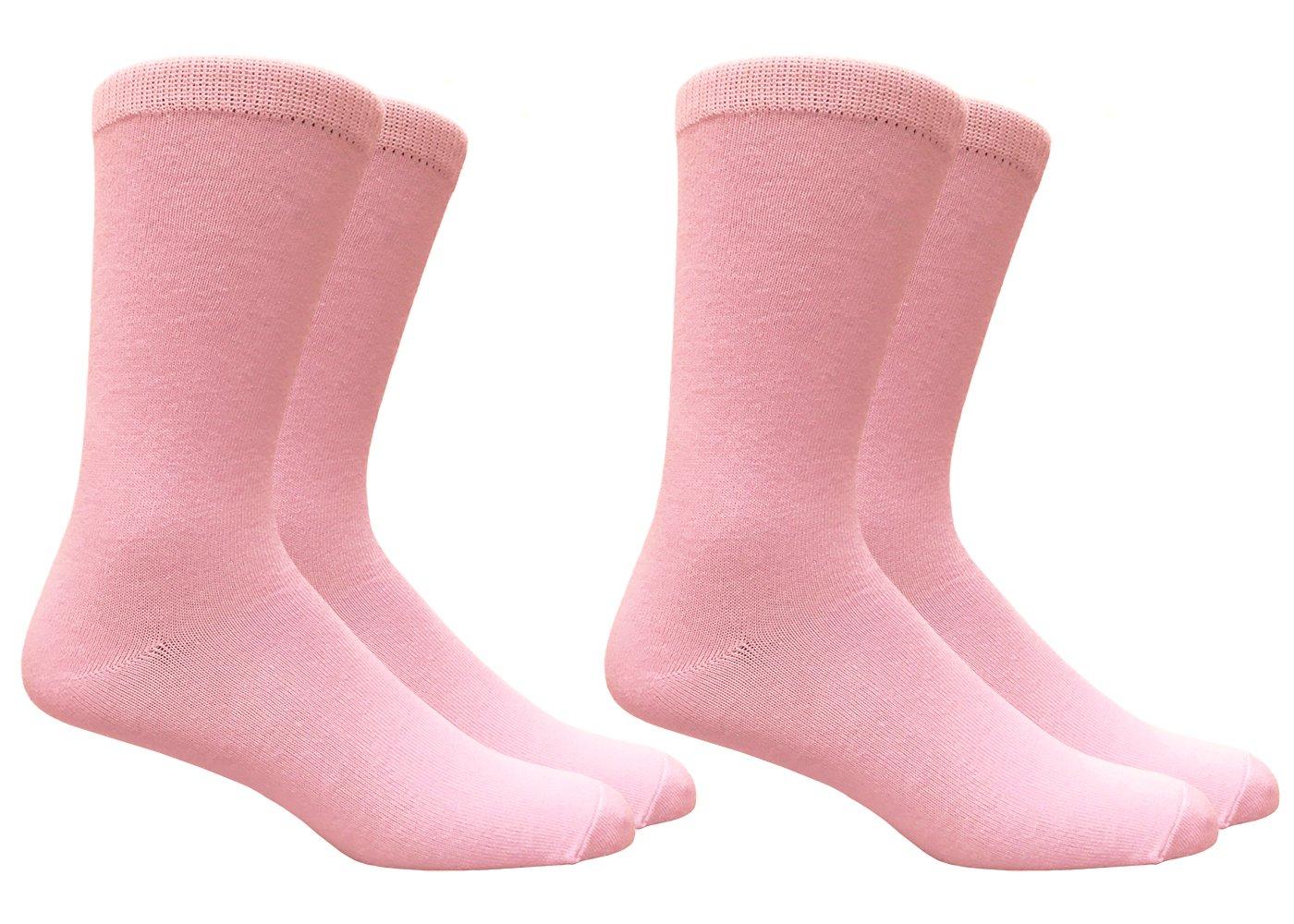 Men's Pink Trouser Dress Socks - 2 Pairs