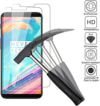 2x Oneplus 5T Protectores de Pantalla, EJBOTH Oneplus 5t Cristal ...