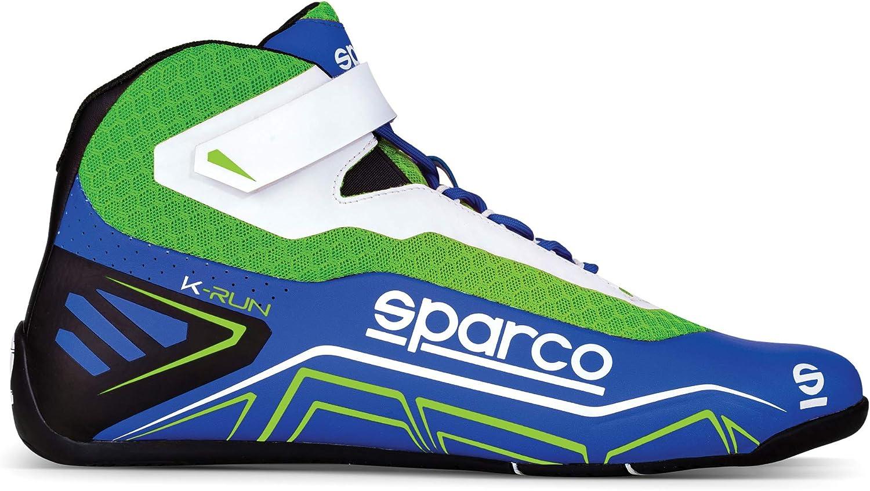 Sparco Scarpe K-Run Taglia 42 Blu Verde Fluo