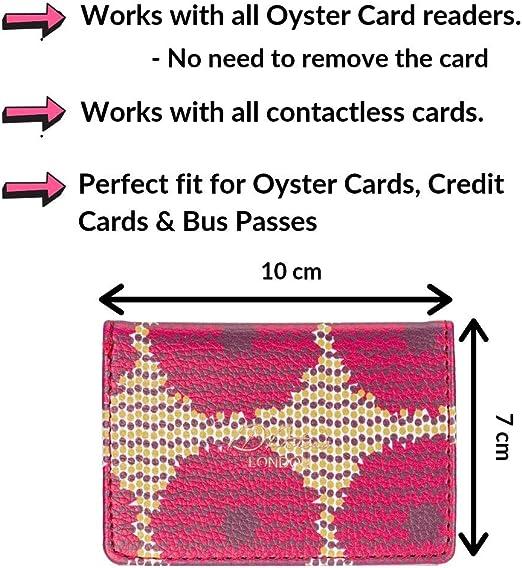/Étui de Portefeuille Compact en Cuir V/égane Porte-Cartes de de ID Peters London Disponible en Superbes Imprim/és Tendance Motifs /à Fleurs d/'Aubergine pour Cartes de Visites et Bancaires
