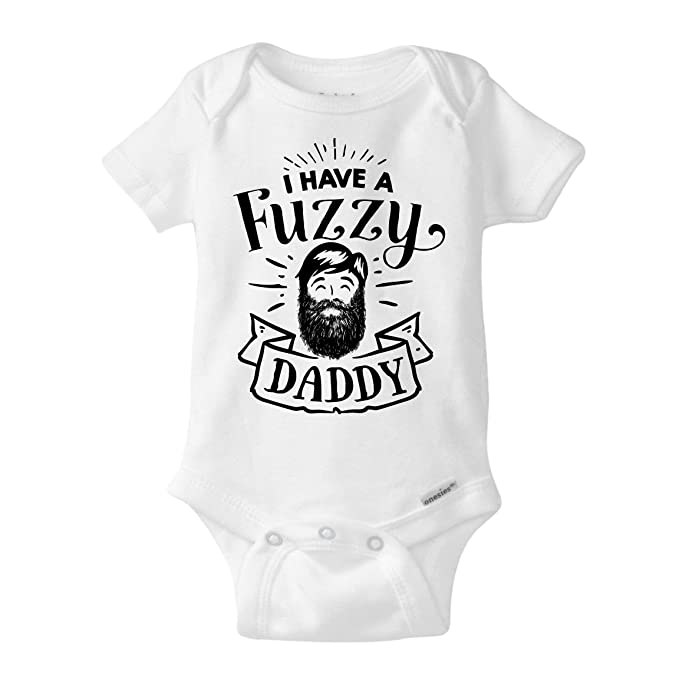 186d34d6bca Beard Daddy Onesie Funny Hipster Baby Gift | I Have a Fuzzy Daddy (Newborn  Onesies
