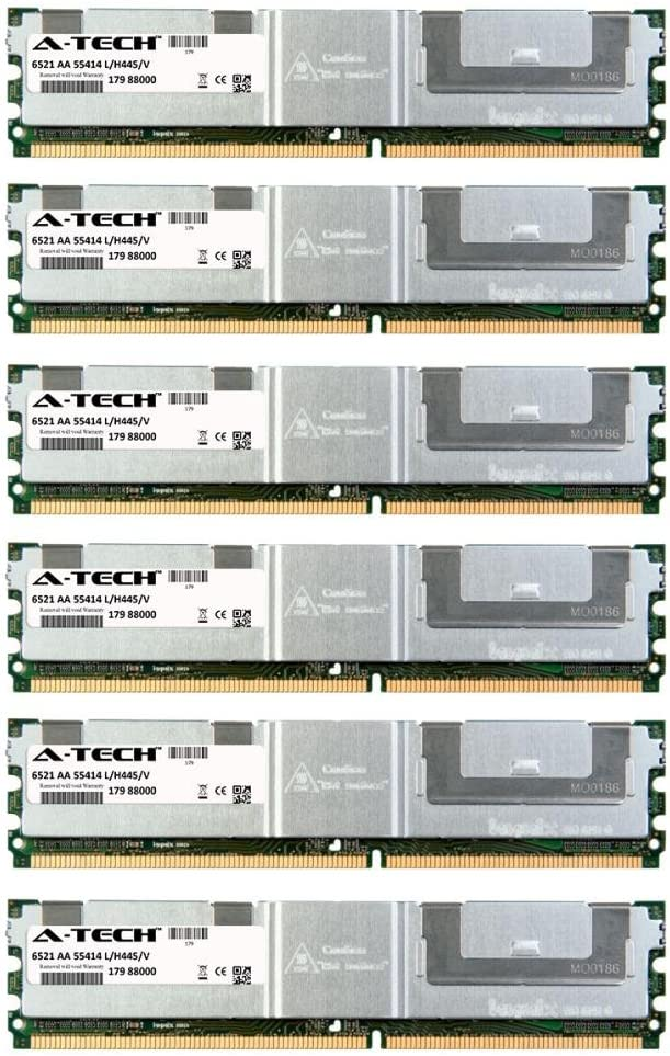 24GB KIT (6 x 4GB) for Dell PowerEdge Series 2900 2900 III. DIMM DDR2 ECC Fully Buffered PC2-5300F 667MHz Server Ram Memory. Genuine A-Tech Brand.