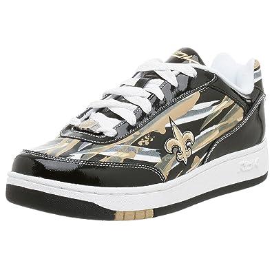 Reebok Men s NFL New Orleans Saints Recline Paint Sneaker 194aa2508