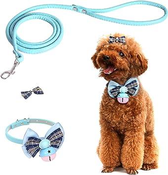 Pawaboo Collar para Mascotas, [3 Piezas] Corbata de Lazo Ajustable ...