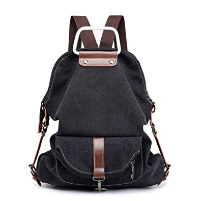 Vintage Canvas Backpack For Women School College Travel Laptop Portable  Rucksack Sling Shoulder Bag Lightweight Large 2a37b359ead5d