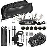 Andoer Kit de ferramentas de reparo de mountain bike portátil para reparo de pneus de emergência multiuso Conjunto de ferrame