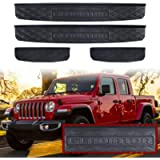 Adust Door Sill Guards Kit Compatible 2019-2021 Jeep Gladiator JT Accessories Parts, Door Entry Guard Kit, Plate Cover…