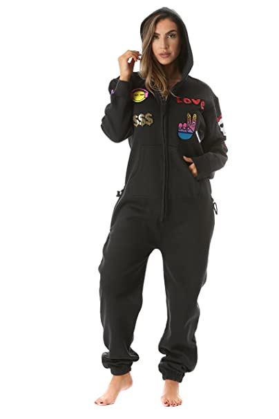 8cbfb8aad337 Adult Onesie With Patches Pajamas Jumpsuit