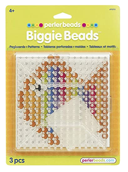Perler Beads Biggie Beads Pegboards For Kids Crafts 3 Pcs