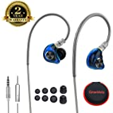 Fitness Earbuds, Sport Ear Buds Wired Exercise Ear Pods HIFI Workout Headphones with Microphone Running Earphones for Jogging Gym Working out Phones.