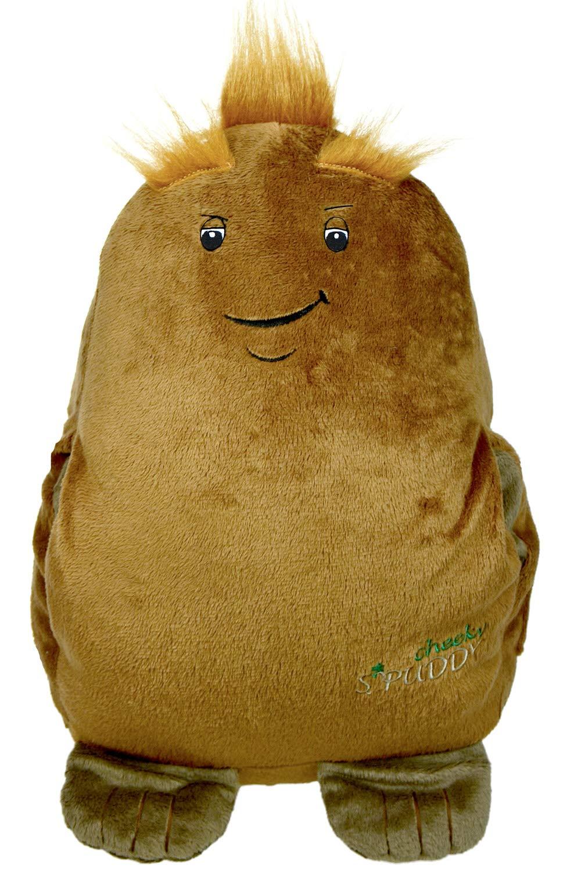 Spuddy, Peluche cojín marrón con bolsillos para aperitivos y ...