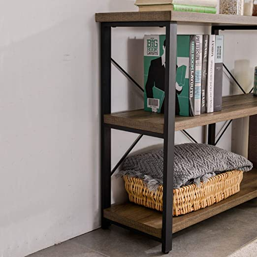 Superb Grelo Home Rustic Entryway Table Tv Console Table With Storage Shelf Metal And Wood Entry Table Industrial Sofa Table For Living Room Oak 55 Inch Frankydiablos Diy Chair Ideas Frankydiabloscom