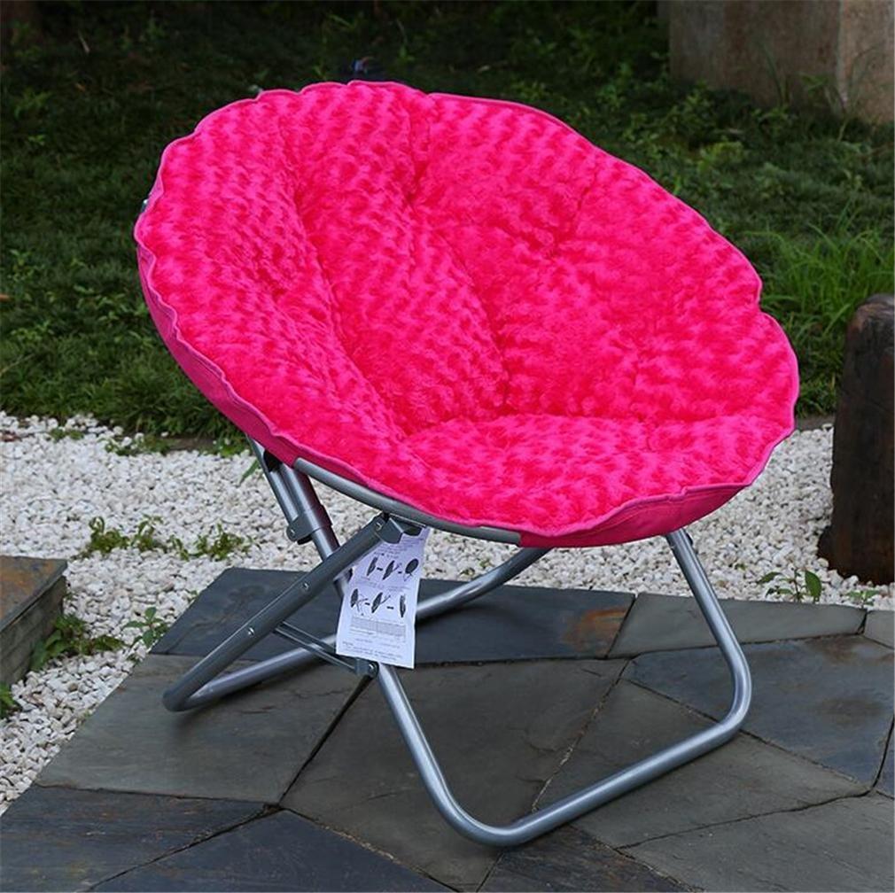 ZHDNG Mond Stuhl Zusammenklappbar Indoor/Outdoor Freizeit Komfortabel