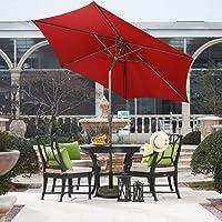 Farland 9-Ft Patio Umbrella with Push Button Tilt and Crank