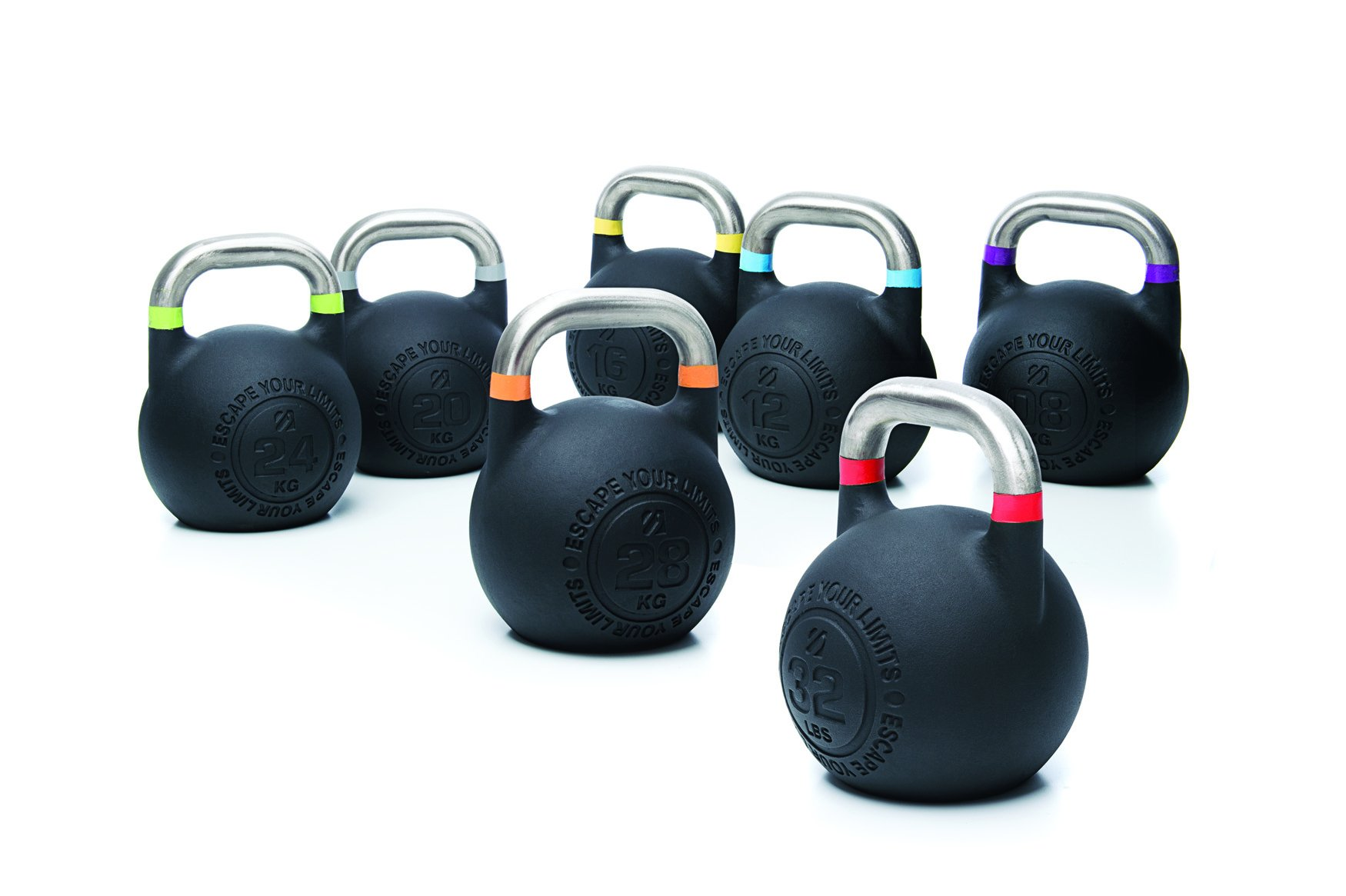 Escape Fitness USA Competition Pro Kettlebell, Purple, 8 kg/18 lbs
