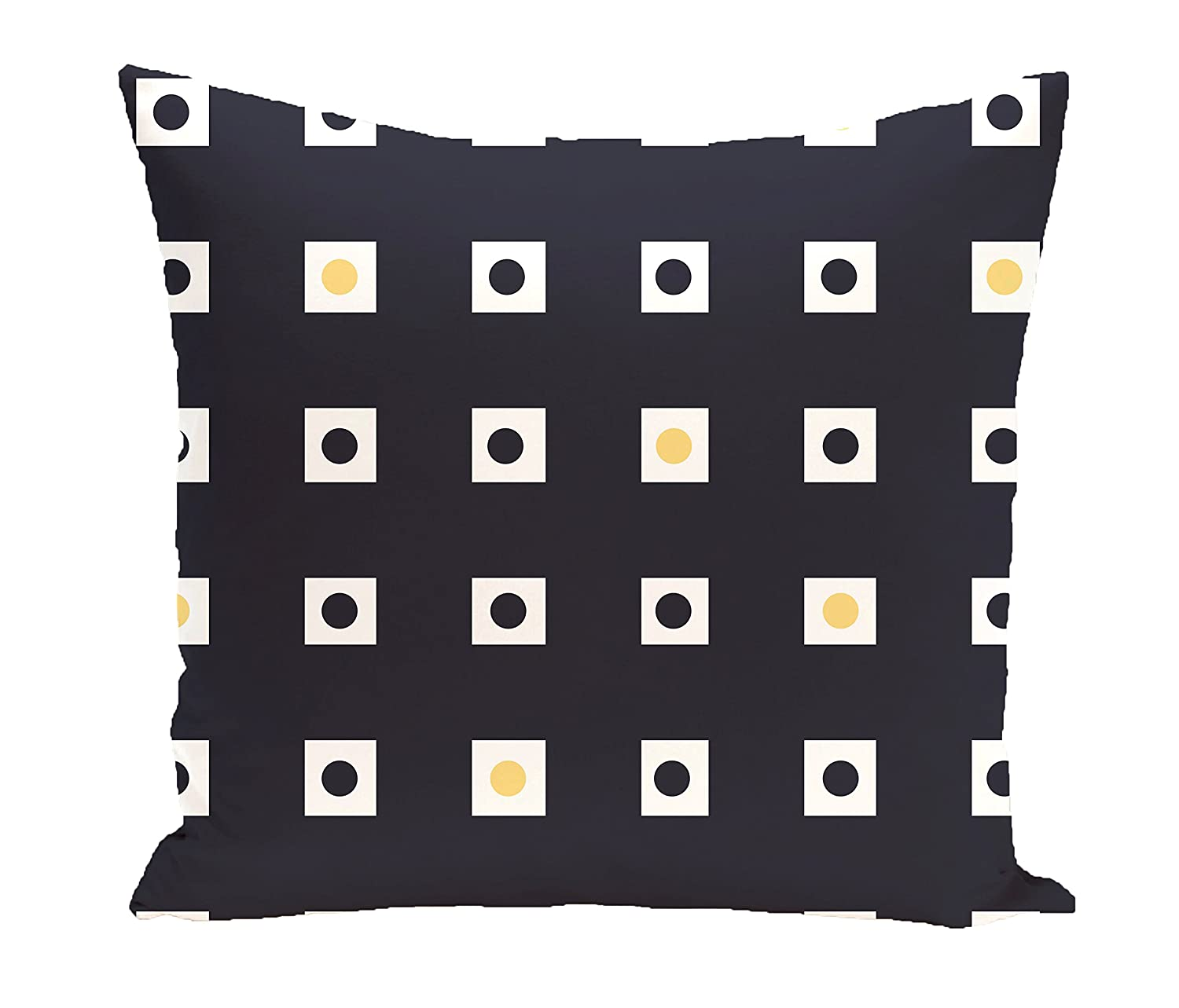E by design O5PGN203BL14YE1-16 Printed Outdoor Pillow
