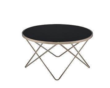 ACME Furniture Acme 81830 Valora Coffee Table, Black Glass U0026 Champagne, One  Size