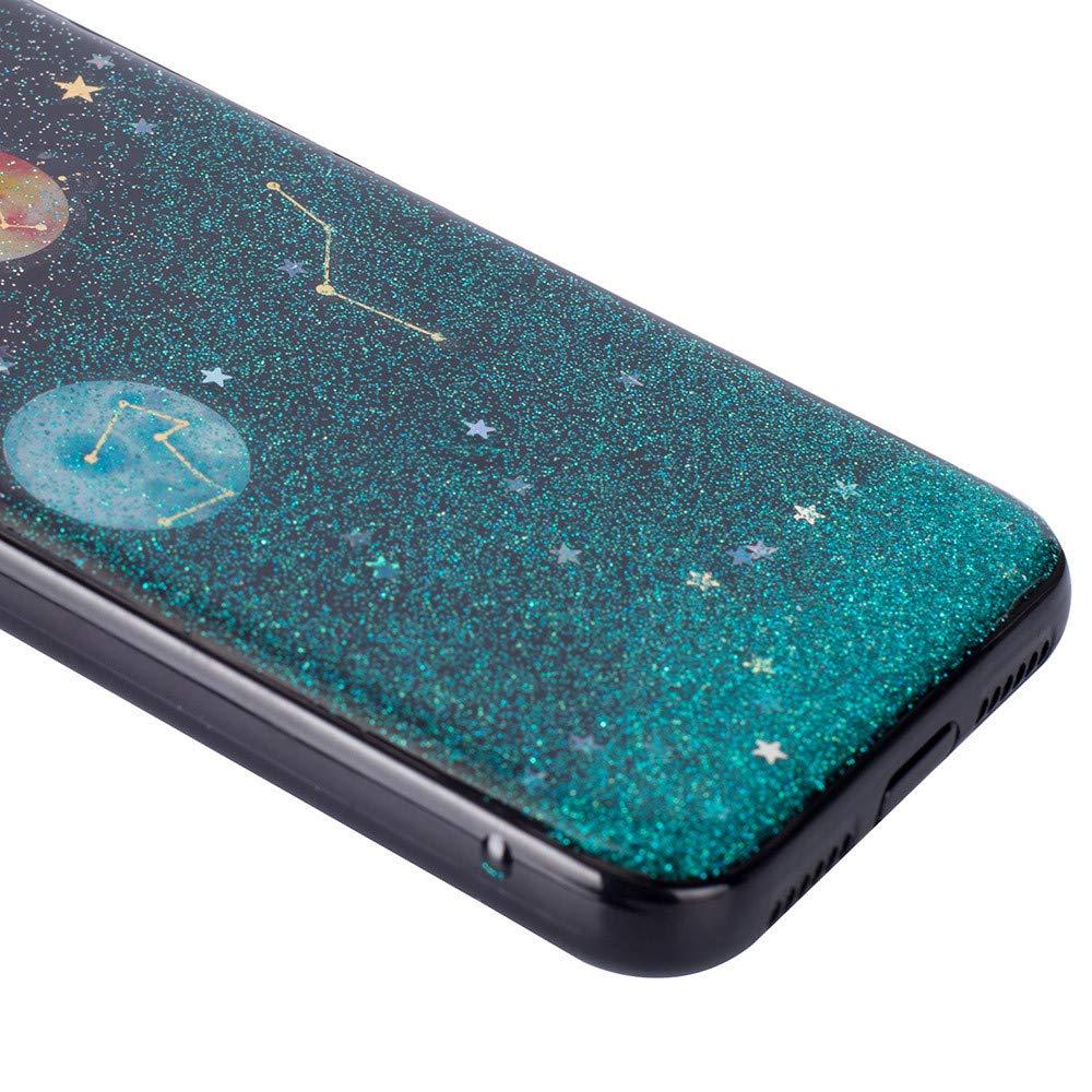 F/ür iPhone XS Max 6.5 Zoll TPU Silikon Handy H/ülle Schutzh/ülle,Colorful Bling Planet Design Ultra D/ünn Kratzfeste Weich Soft Flexibel Bumper Silikon Back Case Cover R/ückschale E
