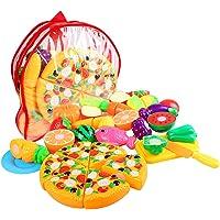 StillCool Cuisine Jouets Enfants Jouent Cuisine Jeu Alimentaire Jouet pour Enfants Développement Précoce, Apprentissage, Cadeaux d'anniversaire (24pcs Fruits et Légumes)