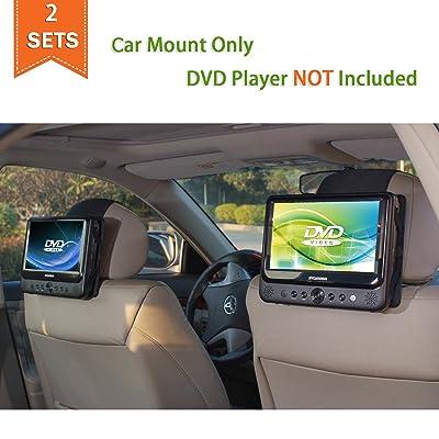 TFY Car Headrest Mount for Portable DVD Player - 2 Pieces: Car Electronics