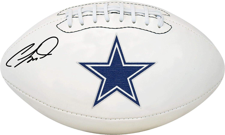 CeeDee Lamb Cowboys Autographed White Panel Football Autographed Footballs