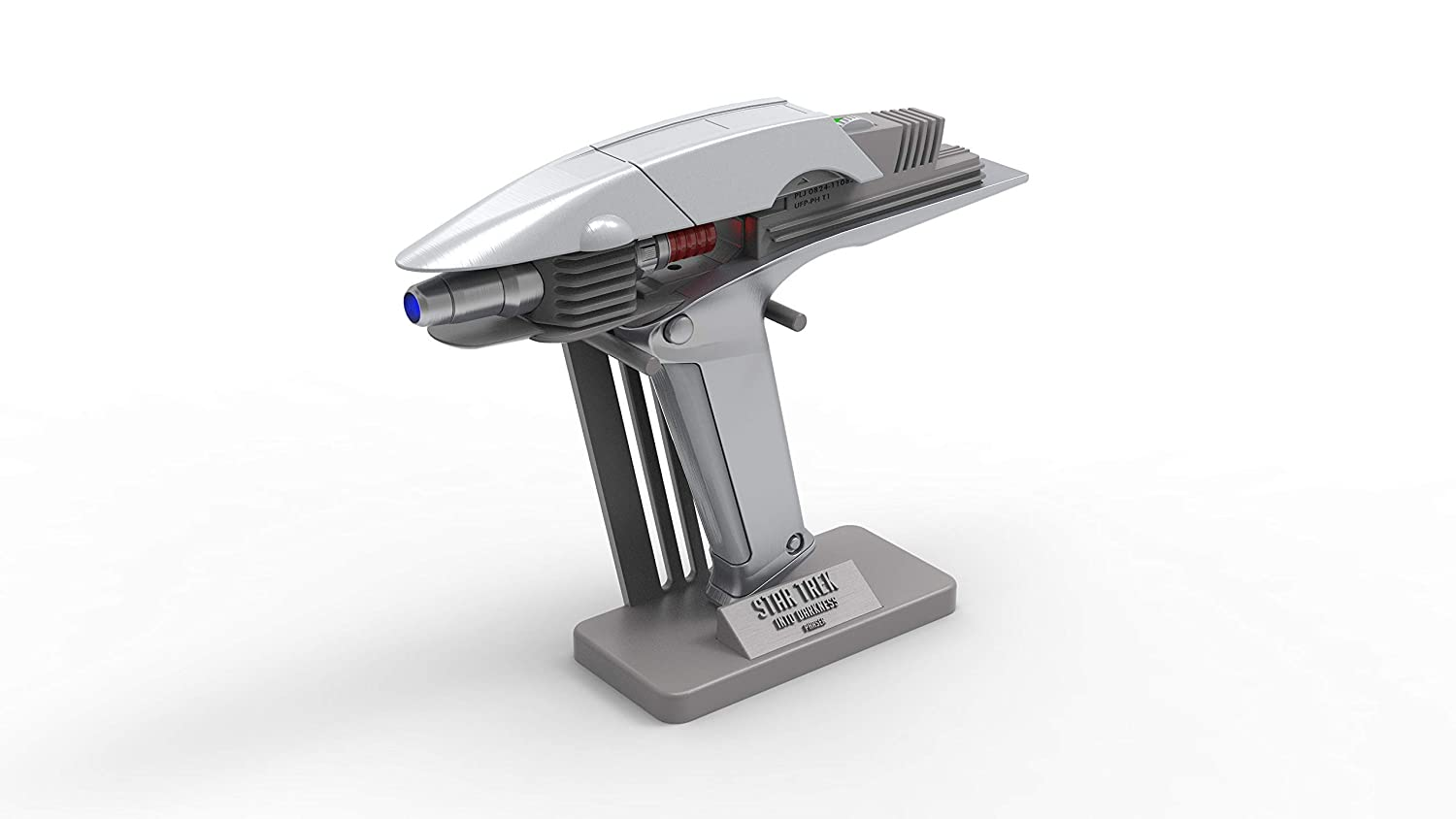 Cosplay 3d printed with moving parts and LED lighting 2009 Phaser Into Darkness Star Trek