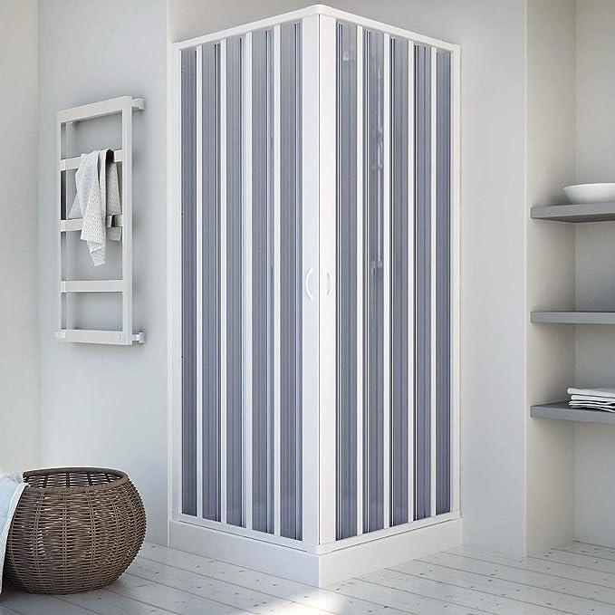 Mampara de ducha de 75 x 75 cm de dos lados plegable, apertura ...