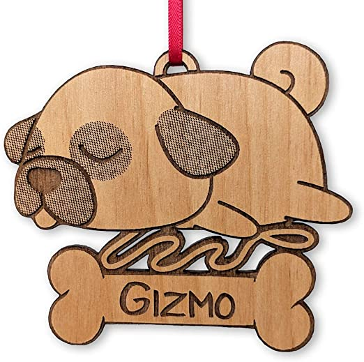 Cute Beagle Wood Ornament Laser Engraved