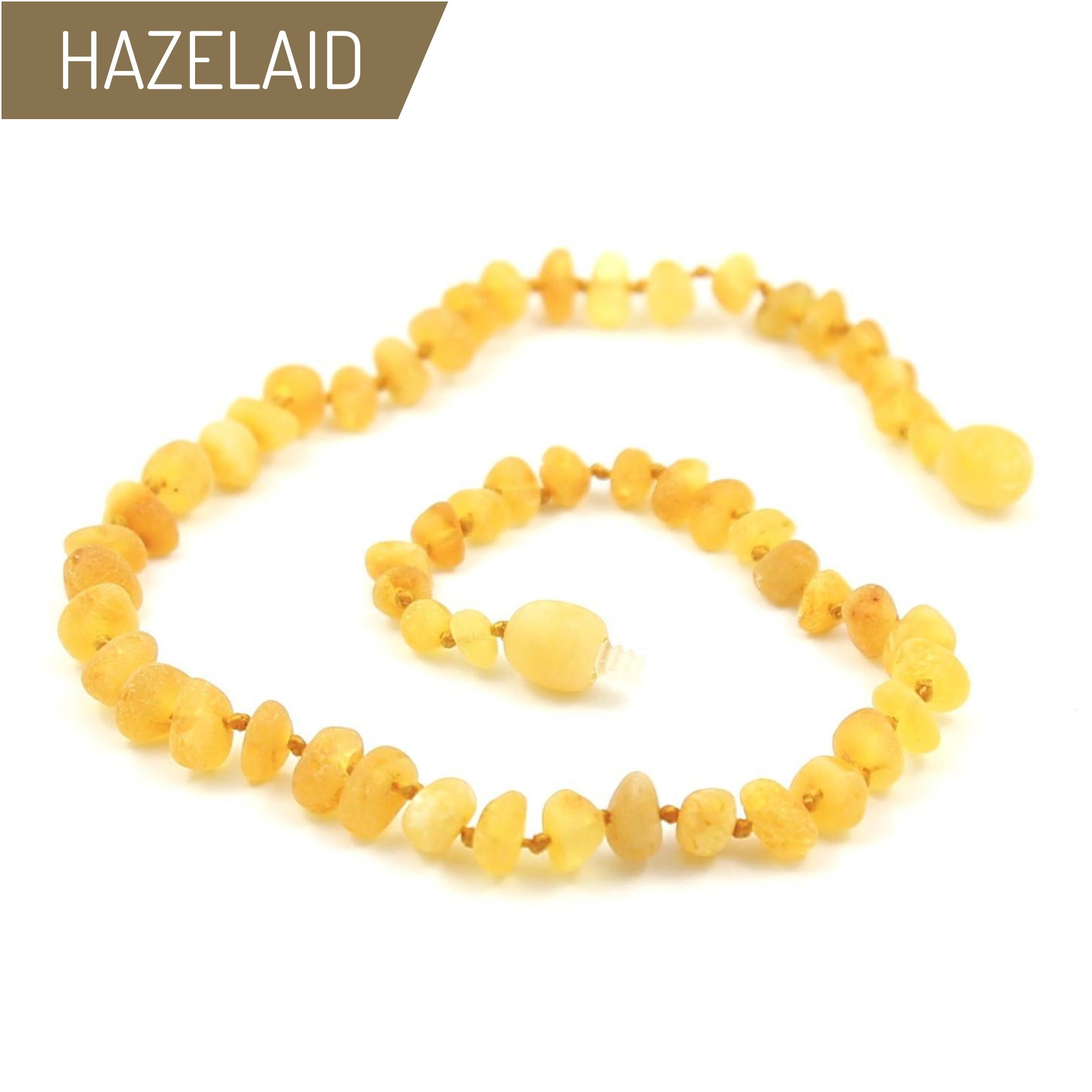 Hazelaid (TM) 12'' Baltic Amber Lemondrop Necklace